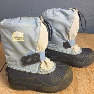 Sorel Toddler Size 10 Blue/Gray 'Snow Otter' Boots